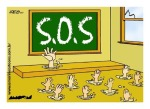 sos educacao charge